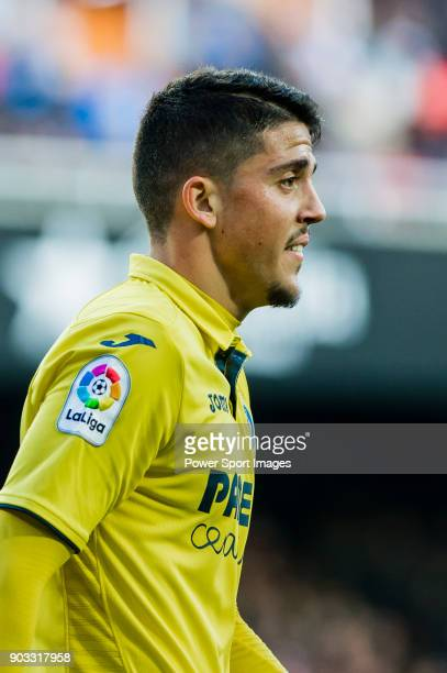 Pablo Fornals of Villarreal CF reacts during the La Liga 201718 match between Valencia CF and Villarreal CF at Estadio de Mestalla on 23 December...