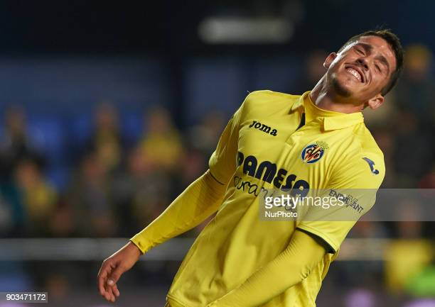 Pablo Fornals of Villarreal CF reacts during the Spanish Copa del Rey Round of 16 match between Villarreal CF and Club Deportivo Leganes at Estadio...