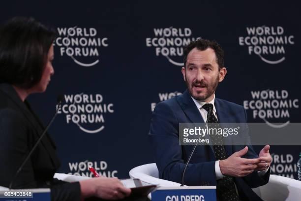 Pablo Goldberg portfolio manager of BlackRock Financial Management Inc speaks during the World Economic Forum on Latin America in Buenos Aires...