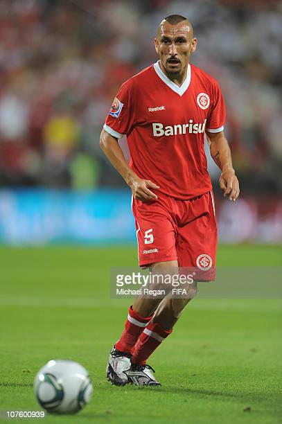 Pablo Guinazu of Sport Club Internacional in action during the FIFA Club World Cup 2010 match between TP Mazembe Englebert and SC Internacional at...