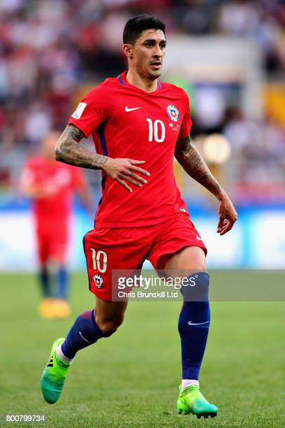Pablo Hernandez of Chile in action during the FIFA Confederations Cup Russia 2017 Group B match between Chile and Australia at Spartak Stadium on...