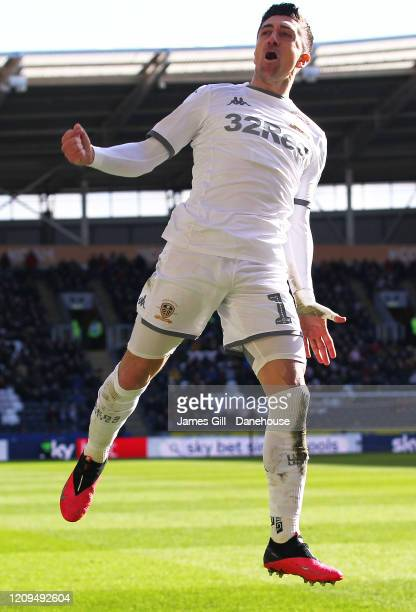 Pablo Hernandez of Leeds United celebrates after scoring their second goal during the Sky Bet Championship match between Hull City and Leeds United...