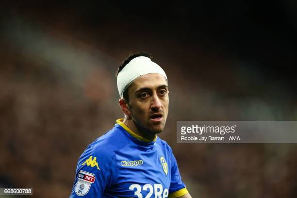 Pablo Hernandez of Leeds United during the Sky Bet Championship match between Newcastle United and Leeds United at St James' Park on April 14 2017 in...