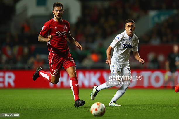 Pablo Hernandez of Leeds United feeds a pass as Marlon Pack of Bristol City looks on during the Sky Bet Championship match between Bristol City and...