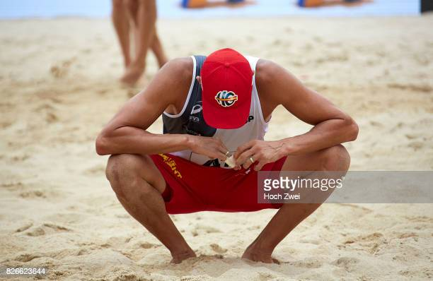 Pablo Herrera Allepuz of Spain seen during Day 9 of the FIVB Beach Volleyball World Championships 2017 on August 5 2017 in Vienna Austria