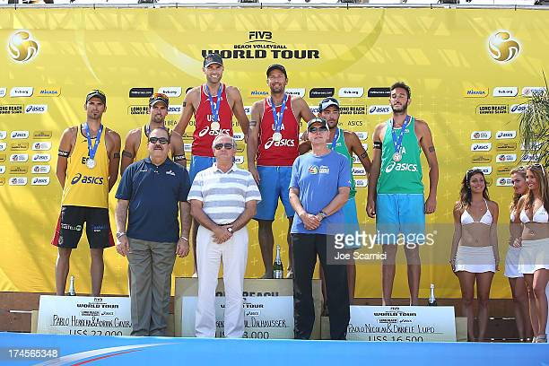 Pablo Herrera and Adrian Gavira of Spain Phil Dalhausser and Sean Rosenthal of USA and Paolo Nicolai and Daniele Lupo of Italy Kevin Wulff CEO of...