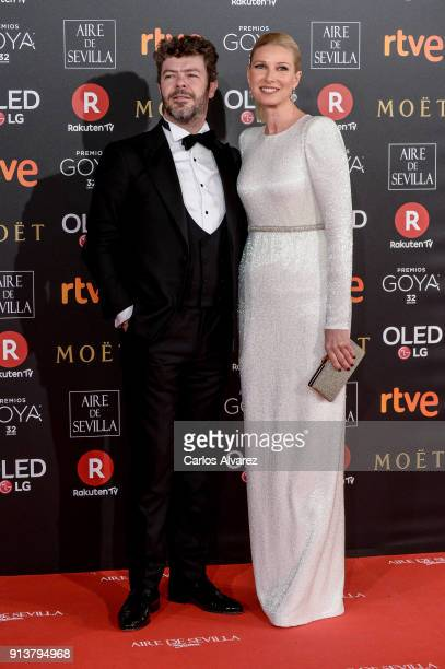 Pablo hewras Casado and Anne Igartiburu attend Goya Cinema Awards 2018 at Madrid Marriott Auditorium on February 3 2018 in Madrid Spain