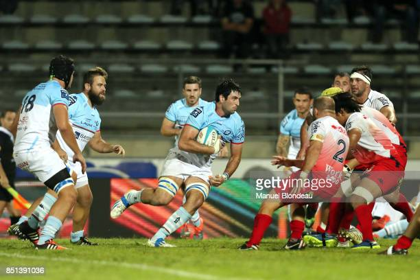 Pablo Huete of Bayonne during the French Pro D2 match between Aviron Bayonnais and Grenoble on September 21 2017 in Bayonne France
