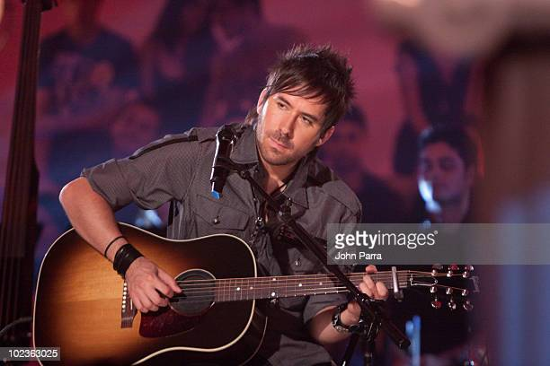 Pablo Hurtado of Camila performs during a taping of Tr3s MTV Unplugged at Paris Theater on June 23 2010 in Miami Beach Florida