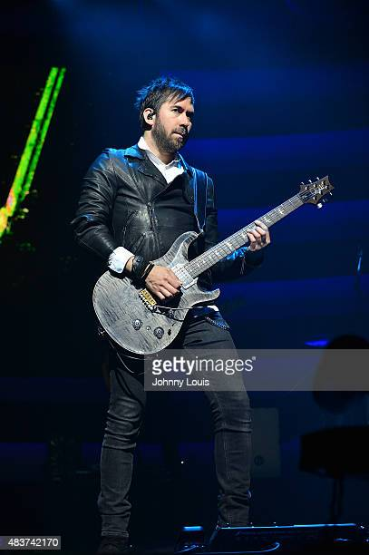 Pablo Hurtado of Latin pop rock group Camila performs at James L Knight Center on July 18 2015 in Miami Florida