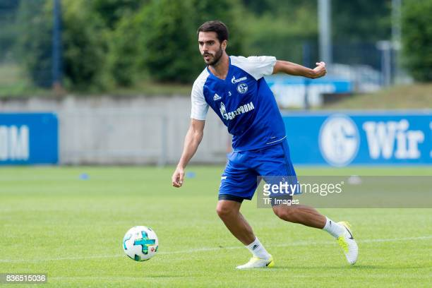 Pablo Insua of Schalke controls the ball during a training session at the FC Schalke 04 Training center on July 5 2017 in Gelsenkirchen Germany