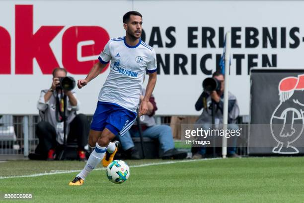 Pablo Insua of Schalke controls the ball during the preseason friendly match between SC Paderborn and FC Schalke 04 at BentelerArena on July 15 2017...