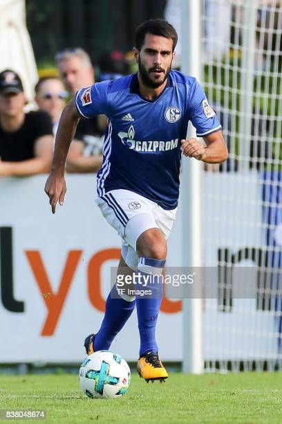 Pablo Insua of Schalke controls the ball during the preseason friendly match between FC Schalke 04 and SD Eibar on July 30 2017 in Mittersill Austria