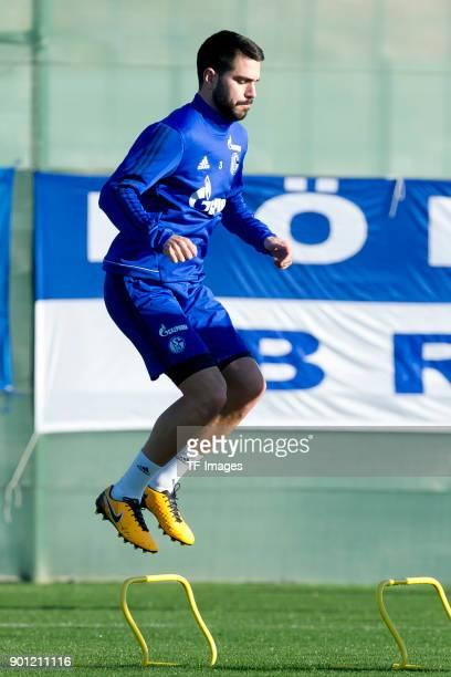 Pablo Insua of Schalke in action during the FC Schalke 04 training camp at Hotel Melia Villaitana on January 04 2018 in Benidorm Spain