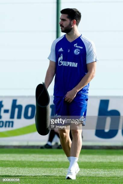 Pablo Insua of Schalke looks on during the FC Schalke 04 training camp at Hotel Melia Villaitana on January 03 2018 in Benidorm Spain