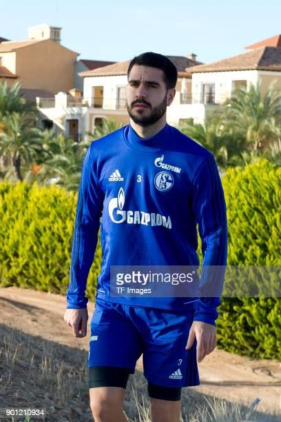 Pablo Insua of Schalke looks on during the FC Schalke 04 training camp at Hotel Melia Villaitana on January 04 2018 in Benidorm Spain