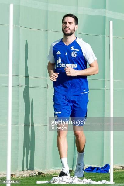 Pablo Insua of Schalke runs during the FC Schalke 04 training camp at Hotel Melia Villaitana on January 03 2018 in Benidorm Spain