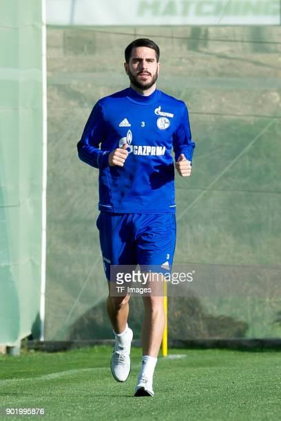 Pablo Insua of Schalke runs during the FC Schalke 04 training camp at Hotel Melia Villaitana on January 05 2018 in Benidorm Spain