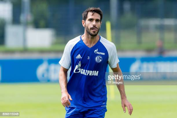 Pablo Insua of Schalke schaut during a training session at the FC Schalke 04 Training center on July 5 2017 in Gelsenkirchen Germany