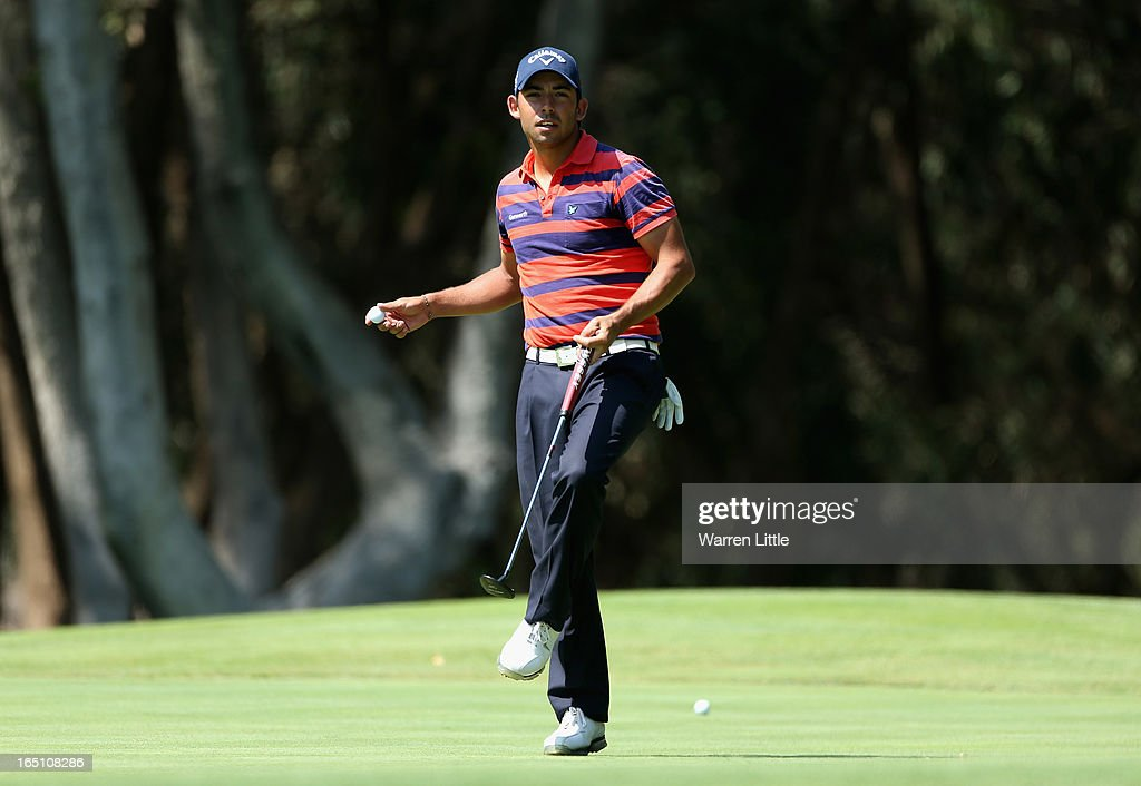 Pablo Larazebal of Spain prepares to throw his ball to his caddie during the third round of the Trophee du Hassan II at Golf du Palais Royal on March 30, 2013 in Agadir, Morocco.