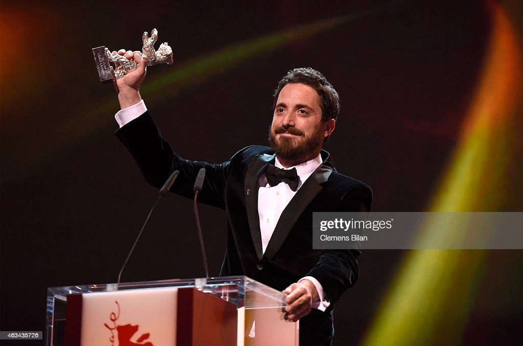 Pablo Larrain accepts the silver bear Grand Jury Prize for 'The Club' on stage during the Closing Ceremony of the 65th Berlinale International Film Festival at Berlinale Palace on February 14, 2015 in Berlin, Germany.