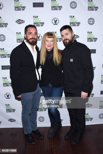 Pablo Larrain Andrea Arnold and Robert Eggers attend the Film Independent Hosts DCU Director's Roundtable at Landmark Nuart Theatre on February 22...