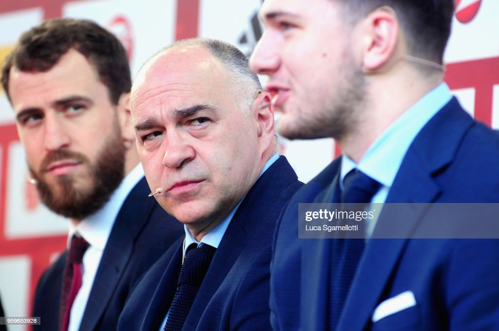 Pablo Laso, Head Coach of Real Madrid during the 2018 Turkish Airlines EuroLeague F4 Final Four Opening Press Conference at Kalemegdan Fortress and Park on May 17, 2018 in Belgrade, Serbia.