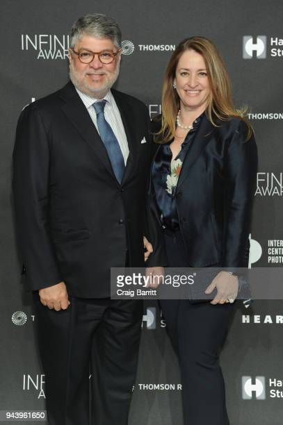 Pablo Legorreta and Almudena Legorreta attend the International Center Of Photography's 2018 Infinity Awards on April 9 2018 in New York City