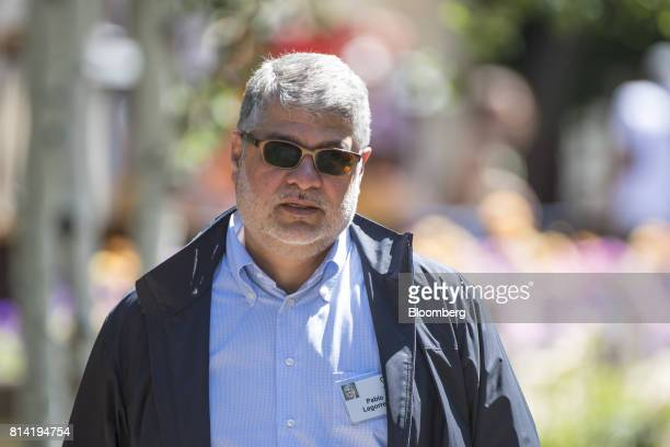 Pablo Legorreta founder and chief executive officer of Royalty Pharma AG walks the grounds after the morning session at the Allen Co Media and...