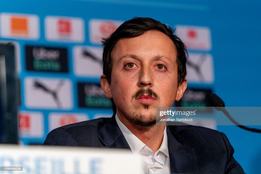 Olympique de Marseille Press Conference : Photo d'actualité