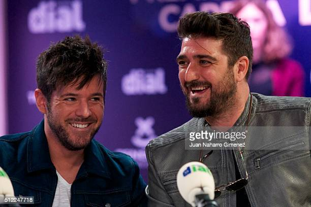 Pablo Lopez and Antonio Orozco attend 'Cadena Dial' Awards presentation at Cadena Dial Studios on February 25 2016 in Madrid Spain
