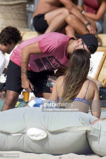 Pablo Lopez and Claudia Nieto are seen on July 17 2018 in Marbella Spain