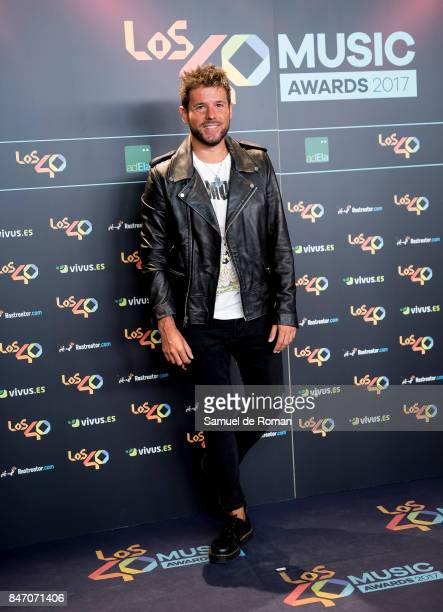 Pablo Lopez attends 40 Principales Awards candidates dinner 2017 on September 14 2017 in Madrid Spain