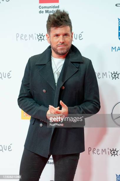 Pablo Lopez attends Jose Maria Forque Awards 2021 red carpet at IFEMA on January 16, 2021 in Madrid, Spain.