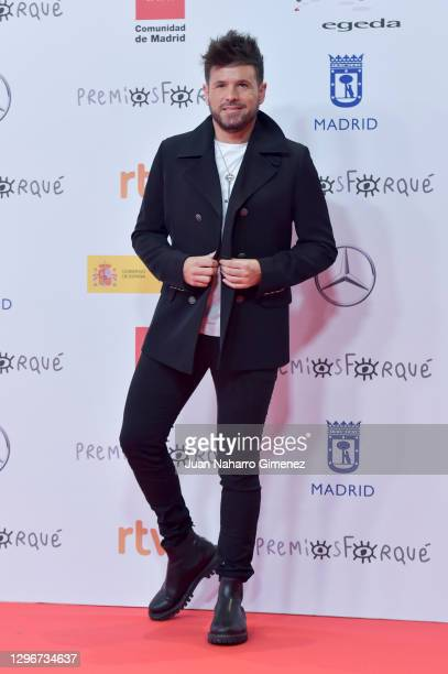 Pablo Lopez attends 'Jose Maria Forque Awards' 2021 red carpet at IFEMA on January 16, 2021 in Madrid, Spain.