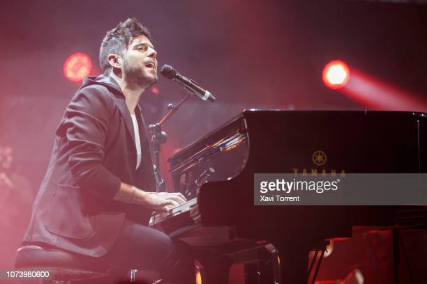 Pablo Lopez performs in concert at Palau Sant Jordi on December 15 2018 in Barcelona Spain