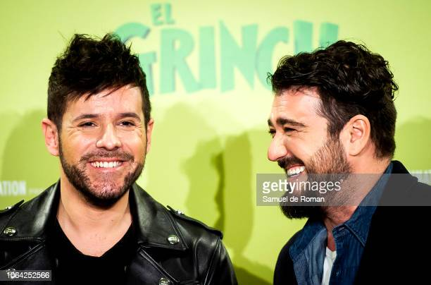 Pablo López and Antonio Orozco attend 'El Grinch' Madrid Photocall on November 22 2018 in Madrid Spain