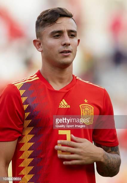 Pablo Maffeo of Spain looks on prior to the 2019 UEFA Under 21 qualifier match between Spain U21 and Albania U21 at Nuevo Arcangel Stadium on...