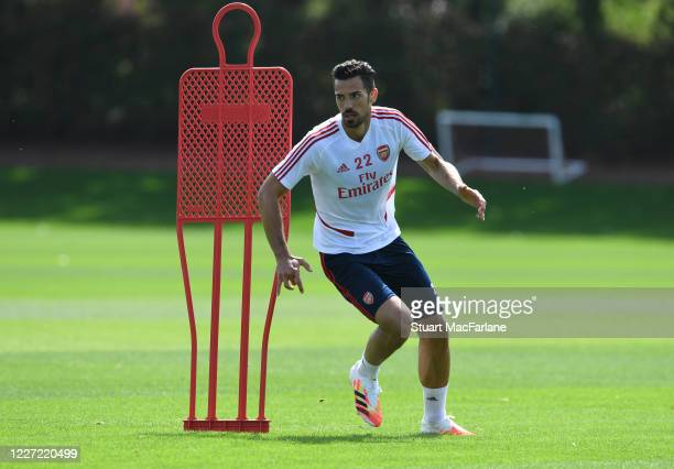 Pablo Mari of Arsenal during a training session at London Colney on May 26 2020 in St Albans England