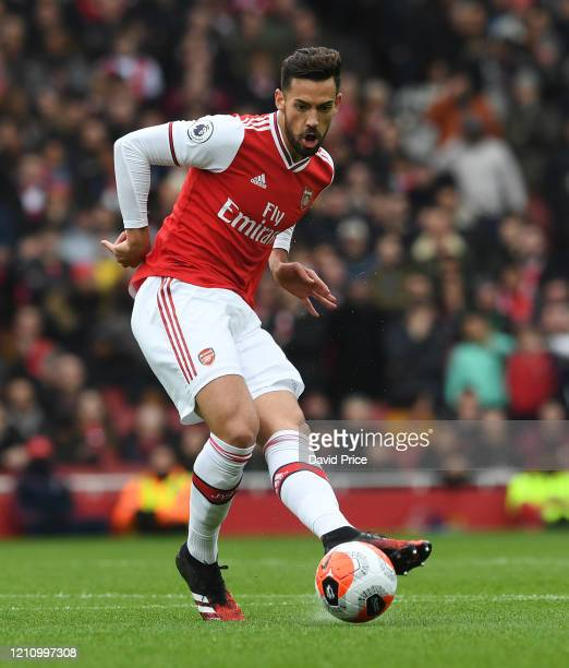 Pablo Mari of Arsenal during the Premier League match between Arsenal FC and West Ham United at Emirates Stadium on March 07 2020 in London United...