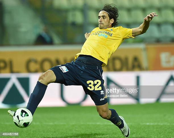 Pablo Mariano Granoche of Modena in action during the Serie B playoff match between Modena FC and AC Spezia at Alberto Braglia Stadium on June 3,...