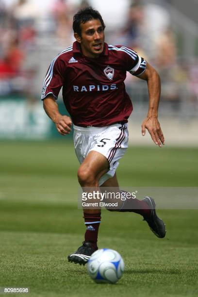 Pablo Mastroeni of the Colorado Rapids controls the ball against DC United during the MLS game on May 4 2008 at Dicks Sporting Goods Park in Commerce...