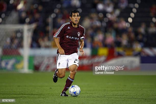 Pablo Mastroeni of the Colorado Rapids controls the ball against the New England Revolution on September 20 2008 at Dicks Sporting Goods Park in...