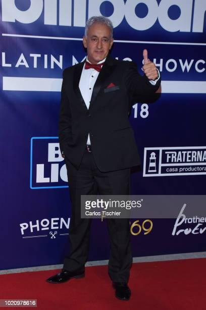 Pablo Montero and La Sonora Santanera performs on stage during Billboard Latin Music Showcase at Palacio de Los Deportes on August 17 2018 in Mexico...