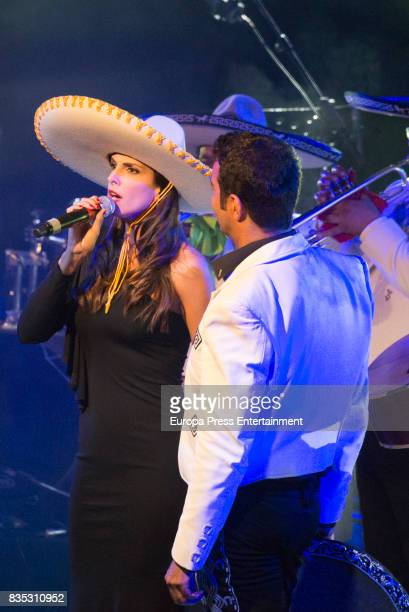 Pablo Montero and Nuria Fergo attend XXXIV AECC Gala Dinner at Real Club de Golf Guadalmina on August 5 2017 in Marbella Spain