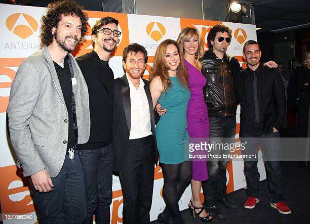 Pablo Motos and Susanna Griso attend 'Espejo Publico' 2012 Awards on January 26 2012 in Madrid Spain
