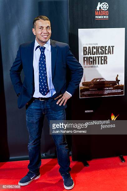 Pablo Navascues attends 'Backseat Fighter' premiere during the Madrid Premiere Week at Callao Cinema on November 21 2016 in Madrid Spain