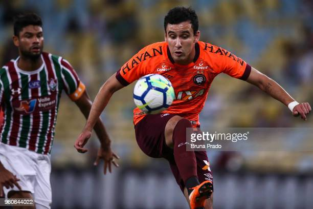 Pablo ® of Atletico PR struggles for the ball with a Gum of Fluminense during a match between Fluminense and Atletico PR as part of Brasileirao...