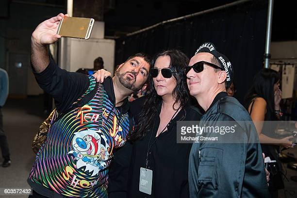 Pablo Olea Kelly Cutrone and designer Jeremy Scott attend the Jeremy Scott fashion show during September 2016 New York Fashion Week The Shows at The...