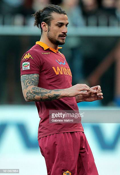 Pablo Osvaldo of AS Roma shows his dejection during the Serie A match between UC Sampdoria and AS Roma at Stadio Luigi Ferraris on February 10 2013...